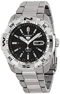 SEIKO Men's Automatic Watch, Analog Display and Stainless Steel Strap SNZJ05J1