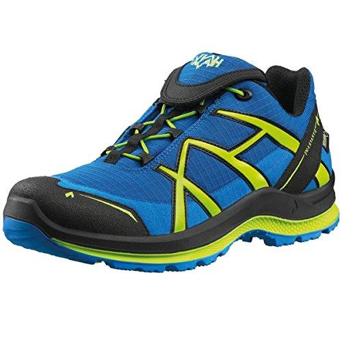 Haix Black Eagle Adventure 2.0 Outdoor-Schuhe | Blue-Citrus | Low | Gore-Tex | Schnellverschluss | rutschfest | Wasserdicht Atmungsaktiv Spitzenschutz Ultraleicht (40)