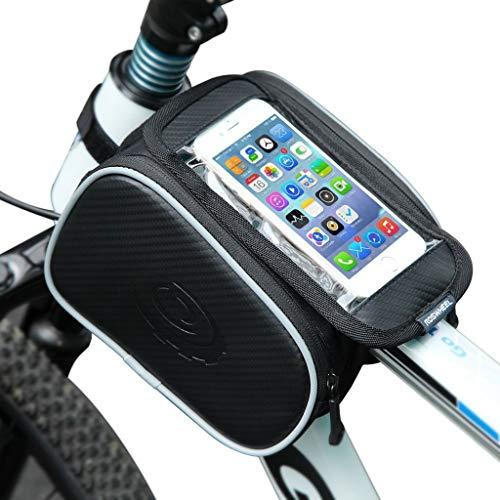 Marxways Wasserdichter Fahrradrahmen Fahrrad Rahmentasche Wasserdicht Lenkertasche Handyhalterung Handyhalter Handytasche Telefonhalter Reitausrüstung