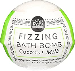 Whole Foods Market, Coconut Milk Fizzing Bath Bomb, 2.3 oz