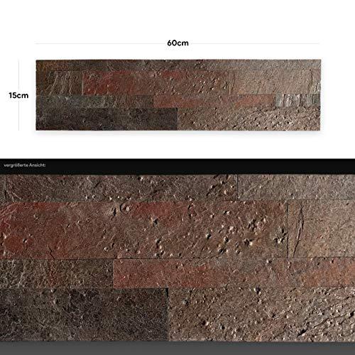 WANDVERKLEIDUNG AUS ECHTEM STEIN: Paneele aus Dünnschiefer | Wandverblender | Wandpaneele in Steinoptik (AS 2002)