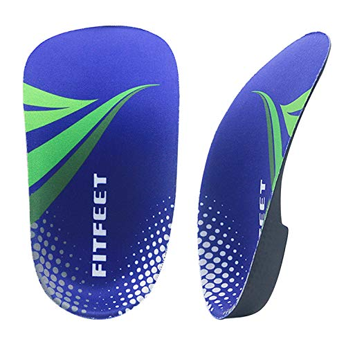 Orthotic Inserts 3/4 Length, High Arch Support Foot Insoles for Over-Pronation Plantar Fasciitis Flat Feet Heel Pain Relief Shoe Inserts for Running Sports Men & Women, M(Men's 7-10.5, Women's9-11.5)