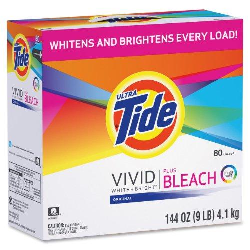 Tide, PGC84998, Vivid Plus Bleach Detergent, 1 / Box, White