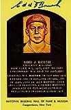 Edd Roush Cincinnati Reds Autographed Hall of Fame Plaque Postcard - JSA Authenticated - Fanatics Authentic...