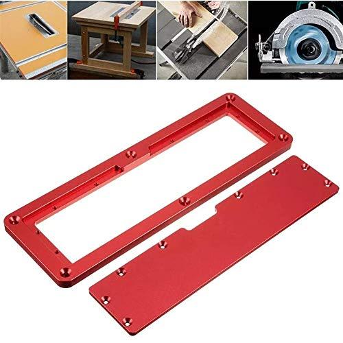 XUSHEN-HU Tratamiento de la madera kit de sierra cubierta del tirón de la placa ajustable superficie de aluminio incrustado Plate de Inserción for Electric sierra circular de mesa duradera Herramienta