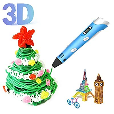 Intelligent 3D Pen for Kids, 3d Printing Pen with Usb Charging and LED Screen, Perfect Gift for Little Friends (01)