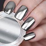 USHION Spiegel Pulver Chromeffekt Pigmente Silber, Chrome Pigmente Nails Mirror Powder,Chrome Nails