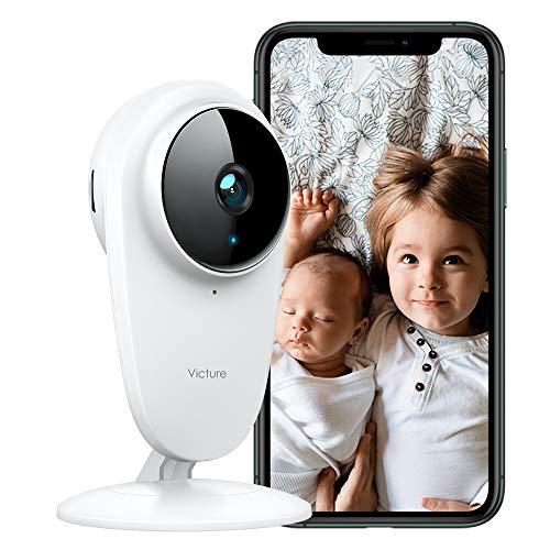 Victure Vigilabebés con cámara 1080P WiFi Baby Cámara de vigilancia 2.4 GHz Cámara de seguridad con visión nocturna, detección de sonido y movimiento, audio de 2 vías, compatible con iOS/Android