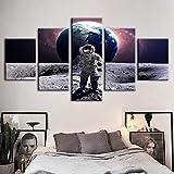 wmyzfs Imágenes Planet Wall Art Prints Figura Lienzo Pintura HD Decoración del Hogar Astronauta Modu...