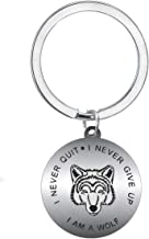 BESPMOSP I am A Wolf I Never Quit I Never Give Up Keychain Inspiration Best Friend Lovers Jewelry