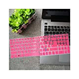 15,6 Pulgadas de Silicona Teclado Cubierta Protectora para Acer Aspire E15 E 15 E5 576 E5576 V3 V15 E5 553G / 575g / Aspire 3 5 7 Series, Pink