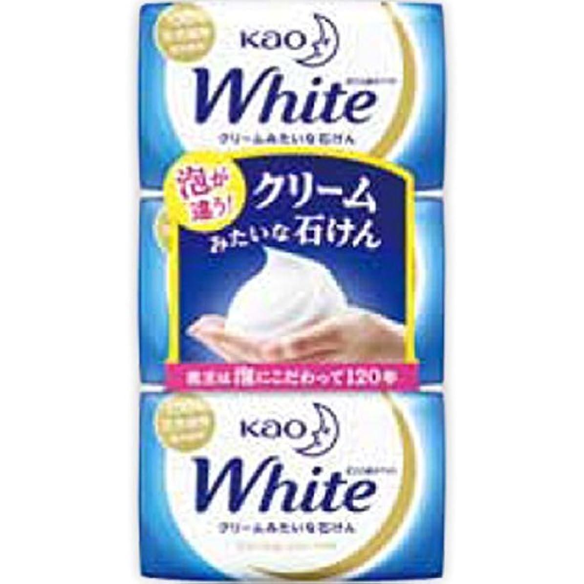 ルームそれら関与する花王ホワイト レギュラーサイズ 85g*3個入