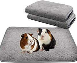 YUEPET 2 Packs Guinea Pig Fleece Cage Liners - Waterproof Reusable& Anti Slip Guinea Pig Bedding Super Absorbent Pee Pad for Small Animals