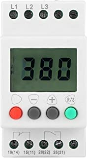 Liukouu Over /& Under Voltage Failure Phase Sequence Protector 3 Phase Power Supply Monitor Relay 415VAC