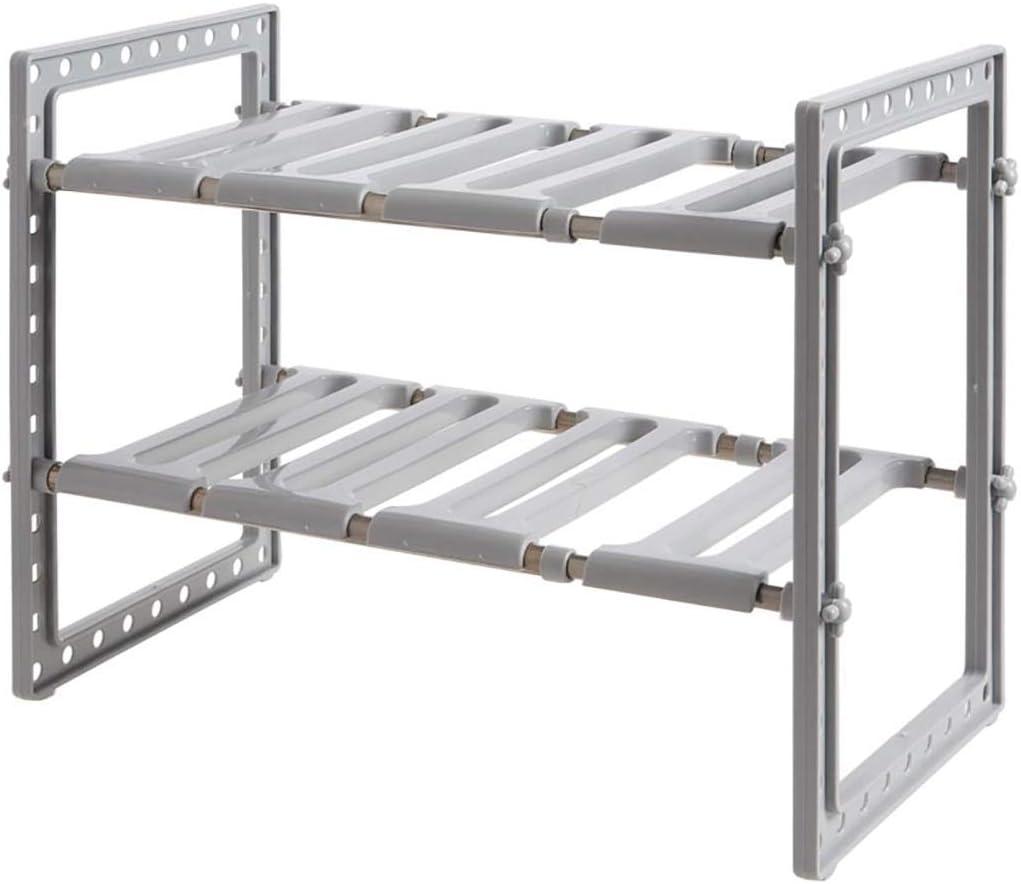 MKKM Household Kitchen National uniform free shipping Storage Shelf Under Expandabl Sink 2-Tier Choice