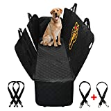 PET'ALMI - Dog Back Seat Cover Protector for Car Hammock Type with Zipper Waterproof Scratchproof Nonslip Protection Against Dirt and Pet Fur Durable Cover for Cars & SUV's Logo I Love My Labrador