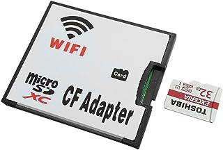 OSEI WIFI CFアダプター TF カードからCFカード TypeI変換 CFアダプター 無線LAN搭載 高速 4G 8G 16G 32G アダプタ付 TF CF 変換 microSDカード用 コンパクトフラッシュ変換アダプタ (TF→wifi CF)