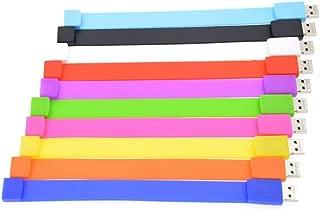 10 Pack Thumb Drives 2GB USB 2.0 Flash Drive, Portable Pen Drive Multi-Coloured Memory Stick Data Storage, Wrist Bracelet Pendrives Jump Drives Zip Drive Best Gift for Children by FEBNISCTE