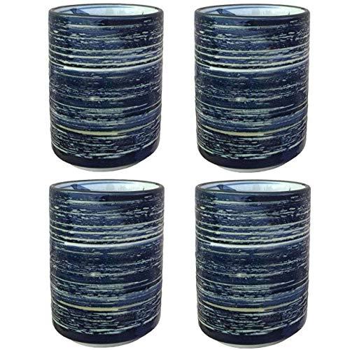 KCHAIN Pack of 4 Ceramic Teacup Set 10oz 300mL Japanese Tea Cups Mugs Set