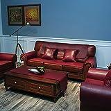 H.L LH Funda de sofá de Cuero sintético, Fundas seccionales Fundas de sofá Impermeables for Mascotas Protector de Muebles Antideslizante (Color : Dark Red, Size : 90x180cm)