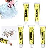 Chines Medicine Cream, natürliche topische chinesische antibakterielle Creme gegen Juckreiz mit 2 Packungen Wattestäbchen für Haut jeglicher Art (5 PCS)