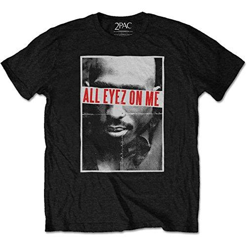 Tupac Shakur 2Pac all Eyez On Me Rap Death Row Ufficiale Uomo Maglietta Unisex (Medium)