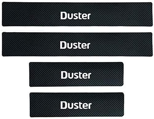 4 Pcs Coche Cuero de Fibra de Carbono Protector Umbral Puerta para Dacia Duster, Antideslizante AntiarañAzos Sticker Accesorios De DecoracióN