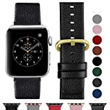 Fullmosa Bracelet Cuir Apple Watch 38mm 40mm(Serie 4) Homme Femme, Bracelet iWatch Series 5 4 3 2...