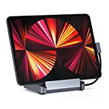 Satechi Aluminum Stand & Hub – 6-in-1 USB-C Hub Foldable Stand – Compatible with 2021/2020/2018 iPad Pro & 2020 iPad Air
