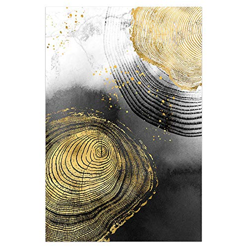 U/N Pintura de Lienzo de Oro Claro, Carteles en Blanco y Negro e impresión, decoración Moderna, Cuadros de Arte de Pared, Sala de Estar, pasillo-10