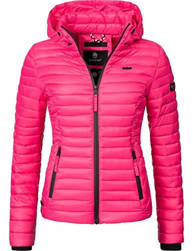 Marikoo Damen Übergangs-Jacke Steppjacke Samtpfote Pink Gr. XS