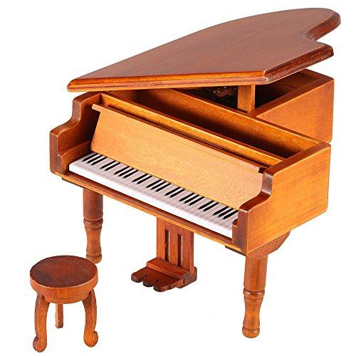 ammoon Windup Wooden Piano Music Box for Children Girls by ammoon