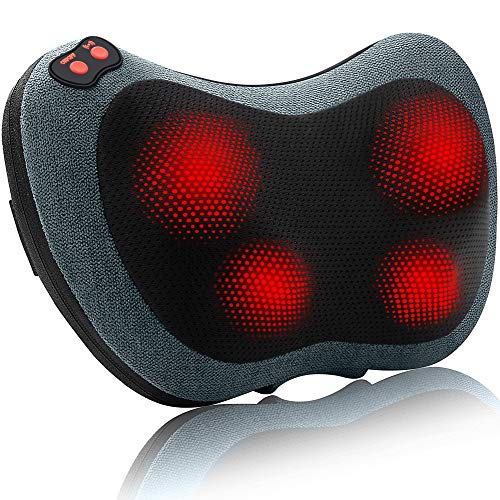 Papillon Neck Massager,Shiatsu Neck Back Massager with Heat,Electric Shoulder Massager,Deep Tissue Kneading Massage Pillow for Neck,Back,Shoulders,Legs,Foot,Body Muscle Pain Relief+Gifts for Women/Men