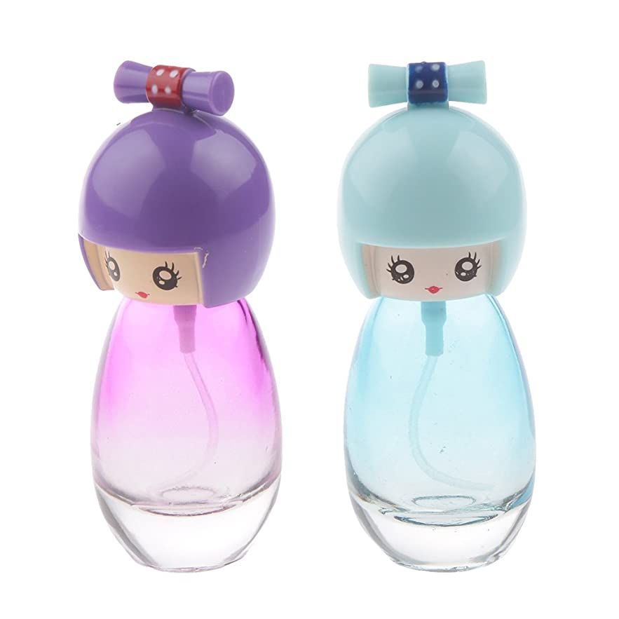 平和な市長北東日本人形のデザイン 旅行用 ガラス製 20ミリリットル 化粧水 香水瓶 便利 全2色 詰め替え