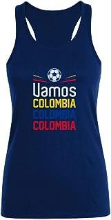 Camiseta sin Mangas para Mujer - Apoyemos a la Selección Colombia en el Mundial!
