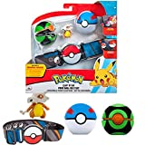 Pokemon Cinturon Set Cubone & Bolas Pokemon – Incluye 1x 5 cm Pokemon Figura 1x Cinturón & 2 x Pokeballs – Licencia Oficial Juguetes Pokemon