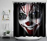 dangfeipeng Juego de Cortina de Ducha de Halloween Asesino d