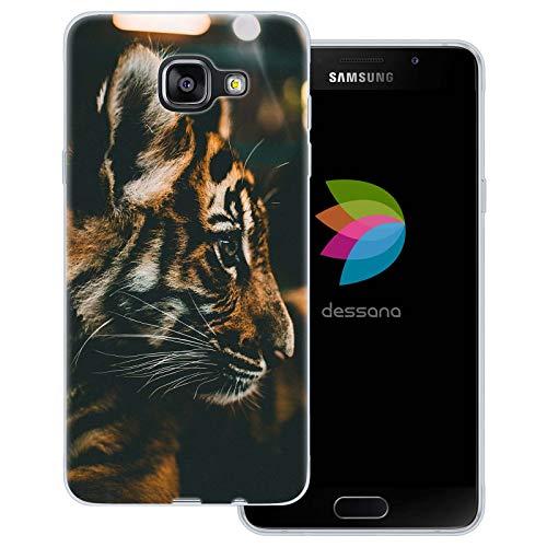 dessana Tiger - Cover trasparente per Samsung Galaxy A5 (2016), motivo: tigre