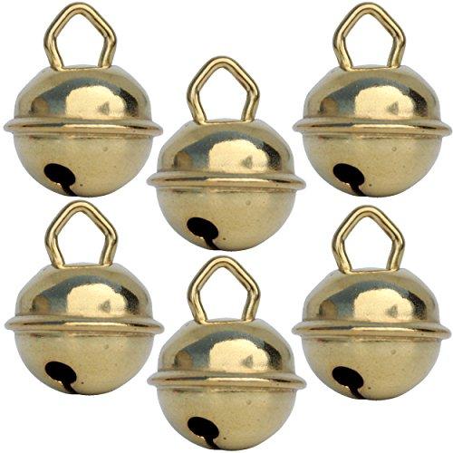 Cascabeles de oro (dorado) (x6 - Esfera 15 mm) Cascabeles musicales metal...