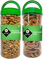 Spicy Carte Premium Dry Fruit Combo Pack (Almonds & Dried figs), 1Kg