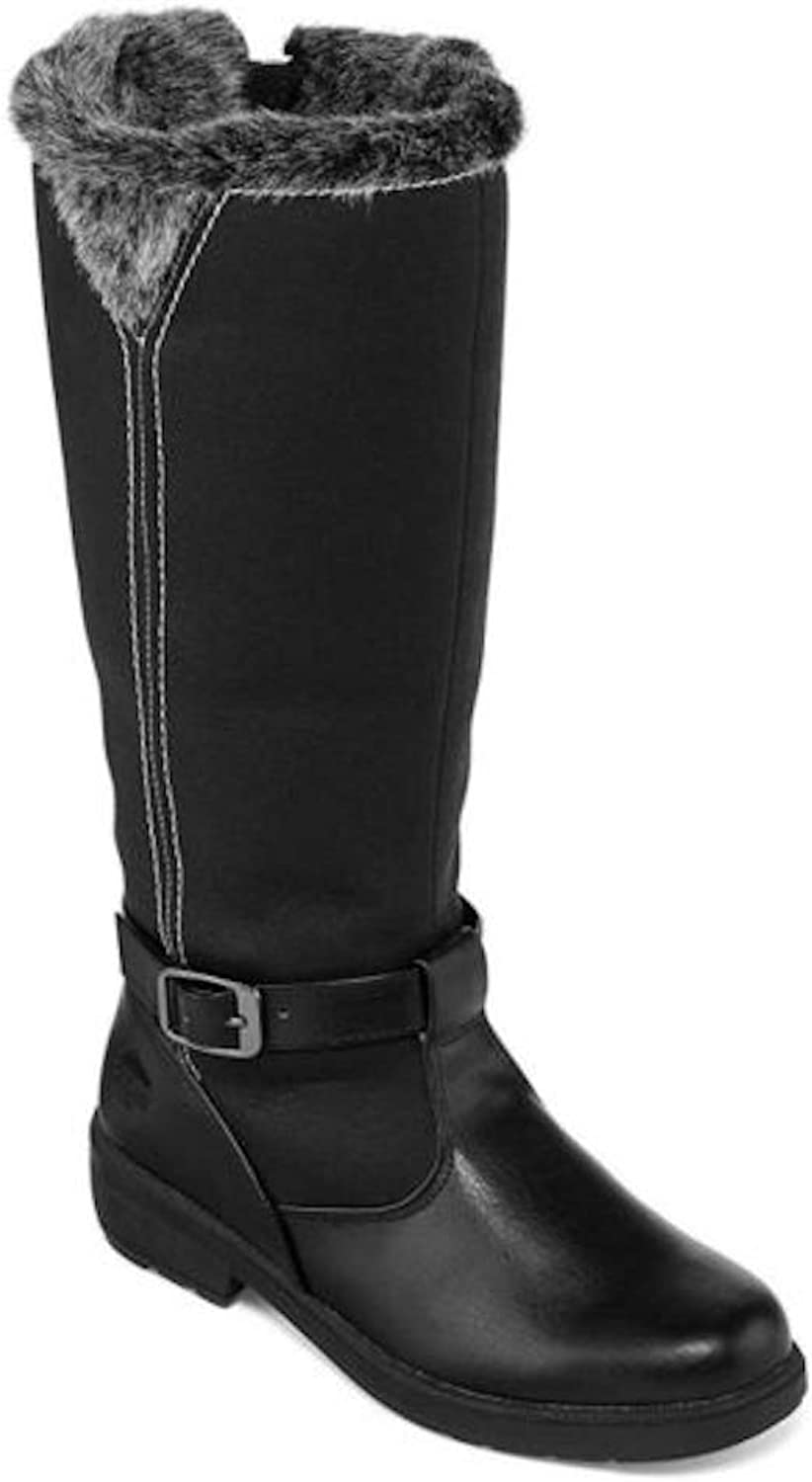 Totes Womens Shauna Faux Fur Round Toe Knee High Cold Weather Boots
