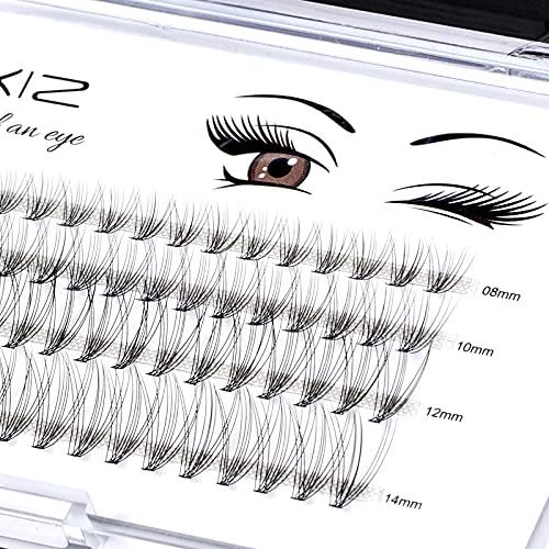 Home PRO DIY Individual Lashes Pack, LANKIZ Cluster Lashes for at Home DIY Eyelash Extension, C Curl 0.07mm Mix 10D False Natural Look Mink Single Eyelashes (10D-Lash-Mix)