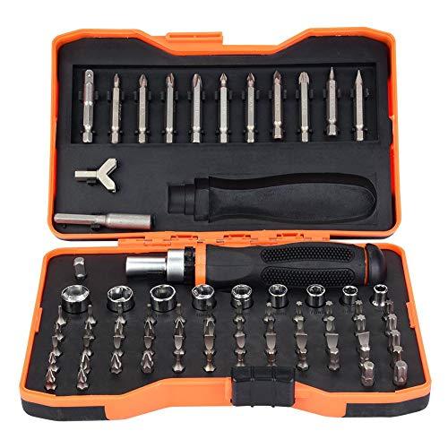 Juego de llaves de vaso de acero al cromo vanadio 76 piezas especiales para automoción y destornillador de trinquete puntas de seguridad Bitbox