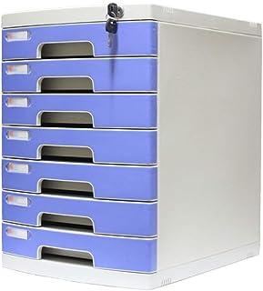 Nologo SH-CHEN Desktop Drawer Sorter Lockable Data Office Storage Drawer Confidentiality Office Desktop Drawer Organizer Blue (11.8in15.8in17.2in) (Size : 9-Layers) File Cabinets