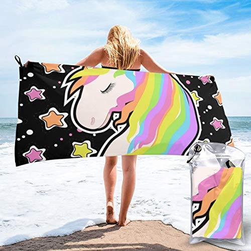 Wrution - Juego de toallas de baño con diseño de unicornio