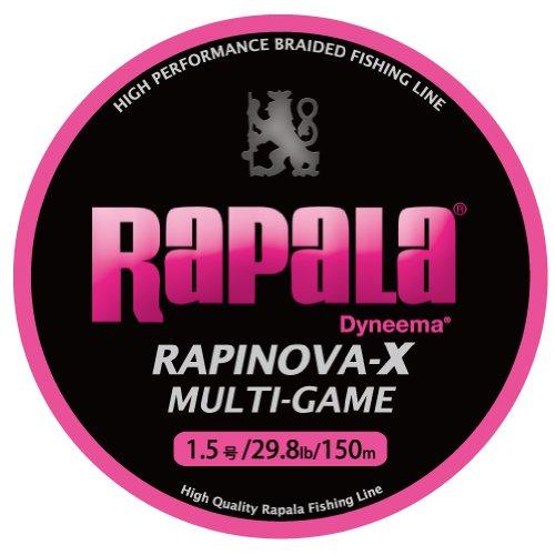 ラパラ PEライン ラピノヴァX マルチゲーム 150m 1.5号 9.8lb 4本 ピンク RLX150M15PK