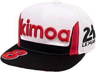 Kimoa - Plana Gorra de béisbol, Blanco, Estándar Unisex Adulto