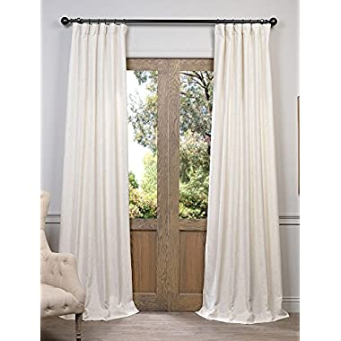Half Price Drapes FHLCH-VET13192-84 Barley Heavy Faux Linen Curtain, 50 x 84, Brown