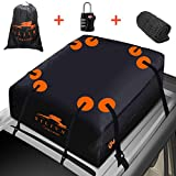 SILIVN 15 Cubic ft Car Roof Bag Top Carrier Cargo Storage Rooftop Luggage Waterproof Soft Box Luggage Outdoor Water Resistant for Car with Racks,Travel Touring,Cars,Vans, Suvs