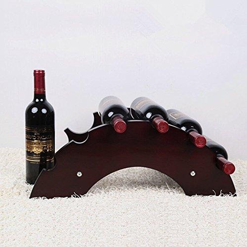 GJSN Porte-Vine, Table À Vin Rouge, Robuste Et Durable 2 Couleurs En Option 6 Bouteilles de Vin Rouge Convient À N'Importe Quelle Scène,Vin Rouge